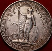 1910 GREAT BRITAIN TRADE DOLLAR SILVER FOREIGN COIN