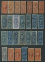 FIRST ISSUE REVENUE STAMP LOT OF 275