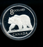 2004 CANADA 8 DOLLARS PROOF COIN WITH STAMP THE POLAR BEAR C