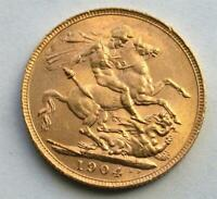 1904 UK GREAT BRITAIN BRITISH SOVEREIGN GOLD BULLION COIN