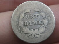 1856 SEATED LIBERTY DIME- SMALL DATE