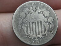 1875 SHIELD NICKEL 5 CENT PIECE- GOOD DETAILS
