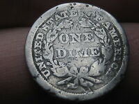 1856 SEATED LIBERTY DIME- LARGE DATE