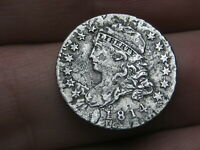 1814 CAPPED BUST SILVER DIME- SMALL DATE- VF/EXTRA FINE  DETAILS