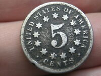 1868 SHIELD NICKEL 5 CENT PIECE- GOOD DETAILS