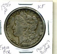1885 P EXTRA FINE  MORGAN DOLLAR 100 CENT  EXTRA FINE 90  OLD SILVER US$1 COIN 3770