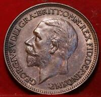 1932 GREAT BRITAIN FARTHING FOREIGN COIN