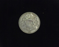 HS&C: 1867 SHIELD NICKEL EXTRA FINE  - US COIN