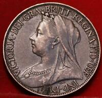1897 GREAT BRITAIN FARTHING FOREIGN COIN