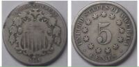 1869 SHIELD NICKEL 5 CENT  GOOD COIN