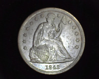 HS&C: 1842 NO MOTTO LIBERTY SEATED DOLLAR EXTRA FINE  - US COIN