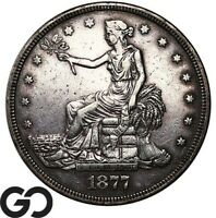 1877 TRADE DOLLAR DETAILS ALWAYS IN HIGH DEMAND SILVER $ SERIES
