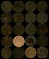 1859 CANADA LARGE CENT: LOT OF 20