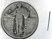 1927 S STANDING QUARTER  COLLECTOR GRADE SEMI KEY DATE COIN FREE SHIP IN USA
