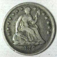 1857 SEATED HALF DIME GREAT CIRCULATED COLLECTOR PIECE