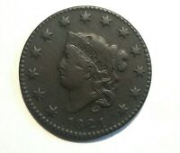 1821 LARGE CENT HIGH GRADE