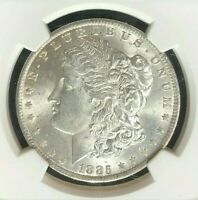 1885-O MORGAN SILVER DOLLARNGC MINT STATE 64 BEAUTIFUL COIN REF72-017