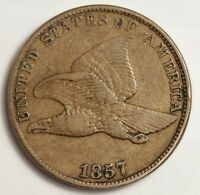 1857 FLYING EAGLE.  ABOUT X.F.  145234