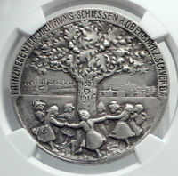 1911 GERMANY UPPER BAVARIA SHOOTING FESTIVAL SILVER MEDAL OF LUITPOLD NGC I81192