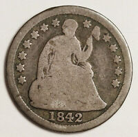 1842-O LIBERTY SEATED HALF DIME.  GOOD.  145509