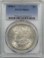 1898-S MORGAN DOLLAR PCGS MINT STATE 64 PQ