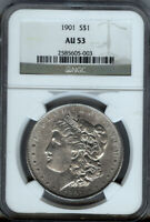 1901-P - MORGAN SILVER $1  NGC AU53- BETTER DATE