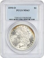 1890-O $1 PCGS MINT STATE 63 - MORGAN SILVER DOLLAR