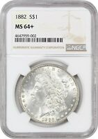 1882 $1 NGC MINT STATE 64 - MORGAN SILVER DOLLAR