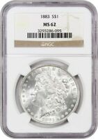 1883 $1 NGC MINT STATE 62 - MORGAN SILVER DOLLAR