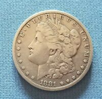 1881 P MORGAN SILVER DOLLAR