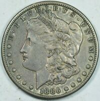 1886 S MORGAN DOLLAR PLEASING ORIGINAL SURFACES EXTRA FINE  EXTRA FINE