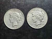 1928 S AND 1935 S KEY DATE PEACE SILVER DOLLARS    US COINS