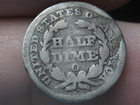 1849-O SEATED LIBERTY HALF DIME- LOW MINTAGE KEY DATE