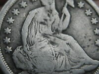 1839 P SEATED LIBERTY HALF DIME- VG/FINE DETAILS