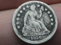 1856 P SEATED LIBERTY HALF DIME- VG OBVERSE DETAILS