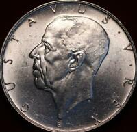 UNCIRCULATED 1938 SWEDEN 2 KRONER SILVER FOREIGN COIN