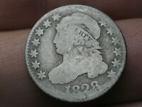 1828 CAPPED BUST SILVER DIME- LARGE DATE