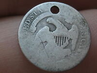 1835 CAPPED BUST HALF DIME- 90 SILVER- SMALL DATE