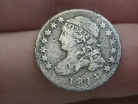 1814 CAPPED BUST SILVER DIME- SMALL DATE- FINE/VF DETAILS
