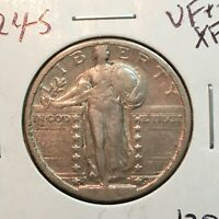 1924-S  VFEXTRA FINE   STANDING LIBERTY QUARTER   COIN
