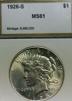 1926S PEACE DOLLAR   BRILLIANT UNCIRCULATED