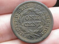 1847 BRAIDED HAIR LARGE CENT PENNY- VF/EXTRA FINE  DETAILS