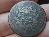 1803 DRAPED BUST LARGE CENT PENNY- VG DETAILS, SMALL DATE, LARGE FRACTION