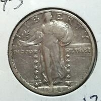 1924-S  STANDING LIBERTY QUARTER    STRONG DATE