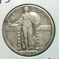1924-S  STANDING LIBERTY QUARTER    STRONG DATE  1