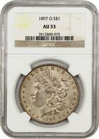 1897-O $1 NGC AU53 - BETTER DATE FROM NEW ORLEANS - MORGAN SILVER DOLLAR