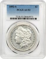 1892-S $1 PCGS AU53 - KEY DATE MORGAN DOLLAR - MORGAN SILVER DOLLAR