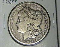 1904 MORGAN SILVER DOLLAR VG/F PHILADELPHIA MINT COIN 51220