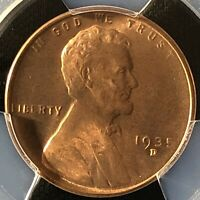 1935-D 1C RD LINCOLN WHEAT ONE CENT  PCGS MINT STATE 67RD          39429287