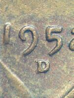 1952 D/D  LINCOLN WHEAT CENT  EXTRA FINE  RPM VARIETY COIN